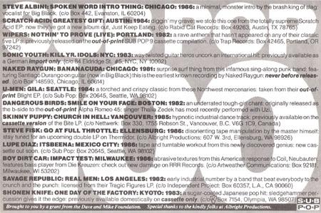 Sub Pop 100 Sub Pop Discography Pette Discographies A